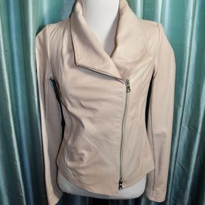 Vince Taupe Leather Jacket